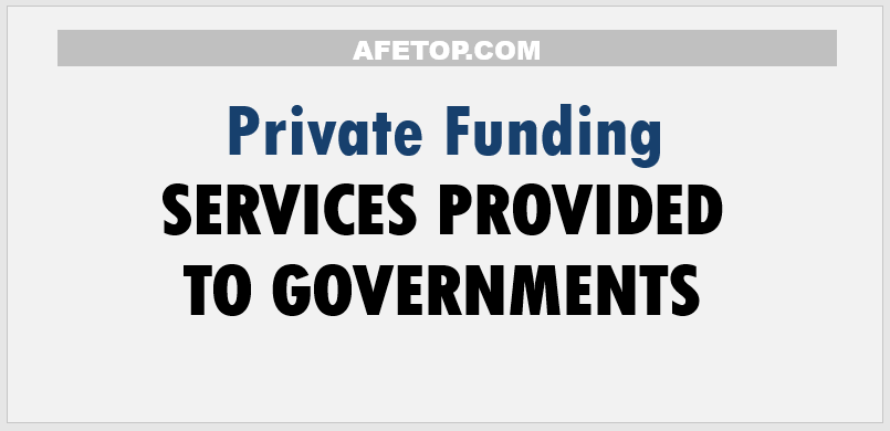 Services provided to Govenments